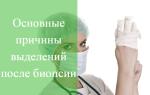 Выделения после биопсии шейки матки: причины, что делать, лечение