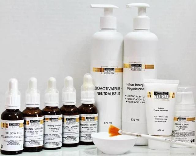 Пилинг космотерос: отзывы косметологов на миндальный, гликолевый, фруктовый и желтый, фото до и после