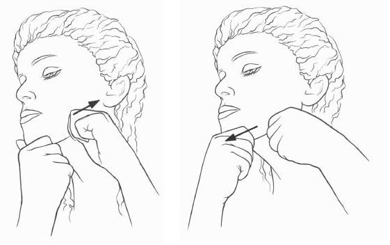 Массаж лица от морщини для подтяжки овала в домашних условиях, этапы выполнения, инструкция в картинках, фото и видео
