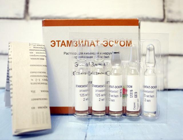 Уколы этамзилата: инструкция по применению при кровотечении, беременности
